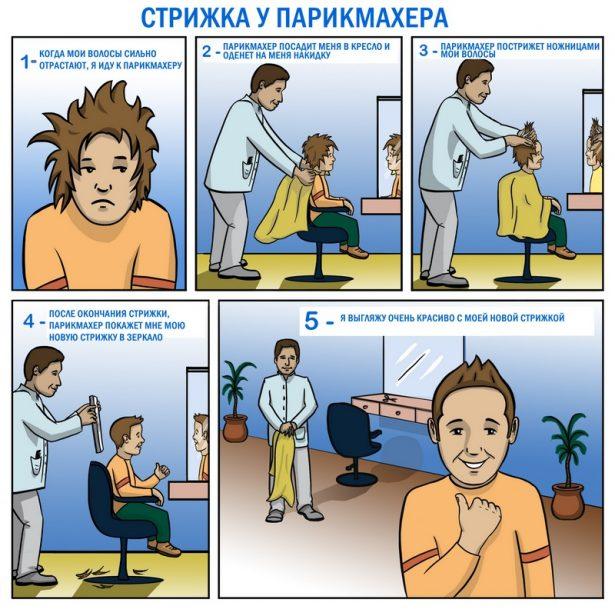 Социальная история «Стрижка у парикмахера»