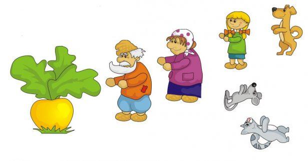 Персонажи сказки Репка для магнитов