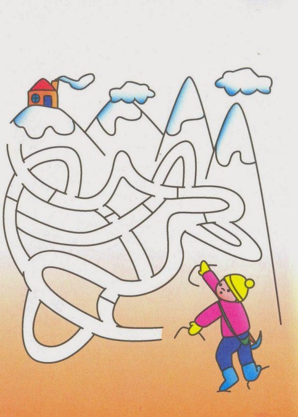 Детские головоломки и лабиринты